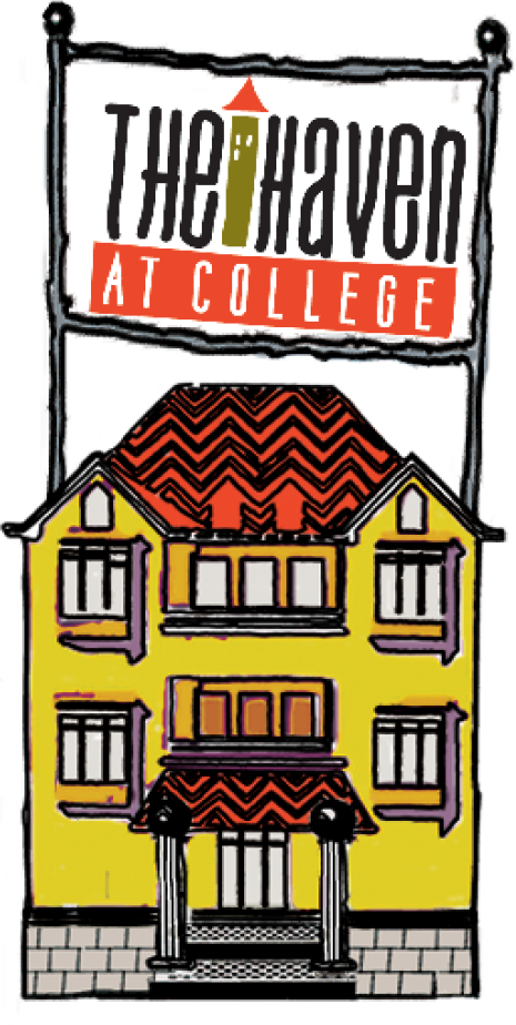 sober living college residence. illustration.